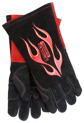 Lincoln Electric KH783 Leather Blaze TIG Welding Gloves, X-Large, Red