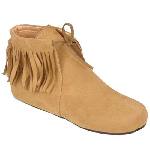 Indian Ankle Child Boots-Brown / Large (2-3)
