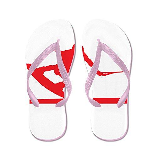 Pressino Rosso Per Wakeboard Da Cafepress - Infradito, Divertenti Sandali Infradito, Sandali Da Spiaggia Rosa