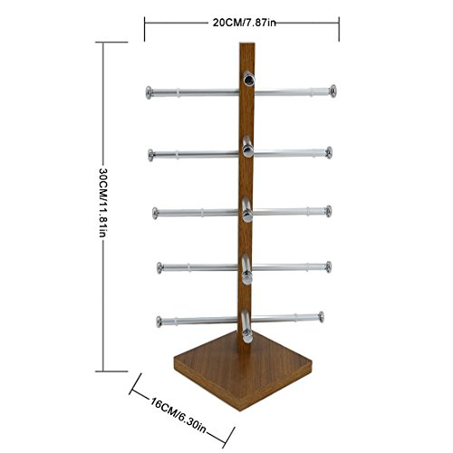 Display Rack, Petforu Wooden Sunglasses Holder Eyeglass Collections Display Stand (Wood Color) by World Pride (Image #3)