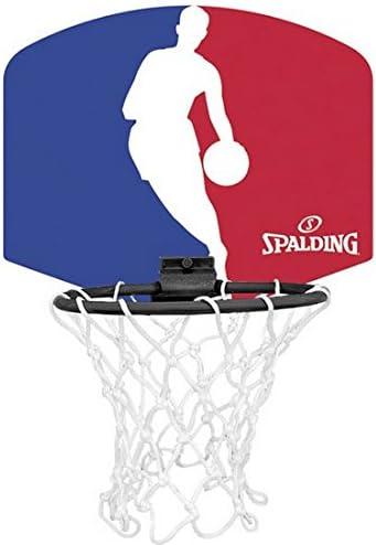 Mini set de aro, red y pelota de baloncesto SPALDING NBA Micro ...