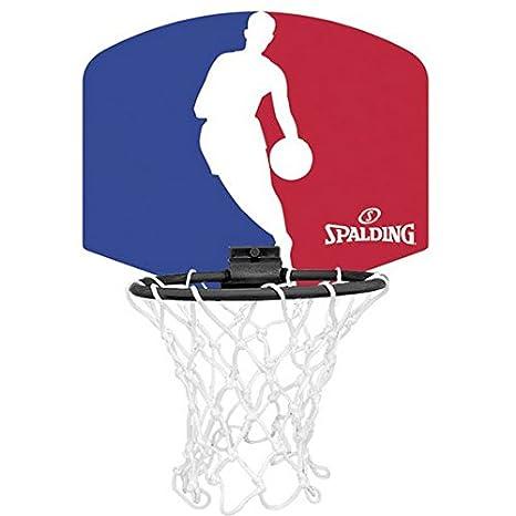 Mini set de aro, red y pelota de baloncesto SPALDING NBA ...