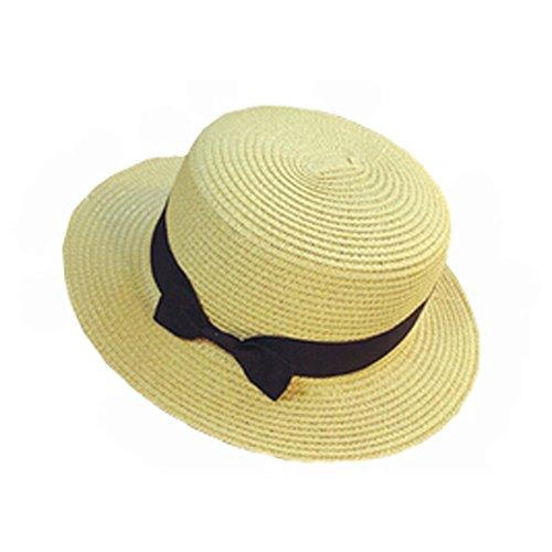Women's Summer Beach Hat Straw Floppy Sun Hat Fashion To ...