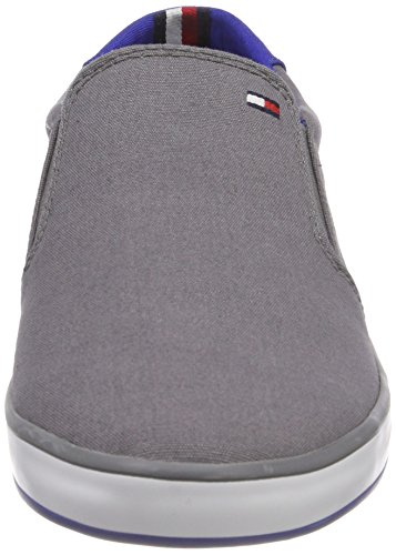 Gris On Sneaker Slip Grey Iconic Baskets Hilfiger Tommy Homme 039 Steel q0w4BUx
