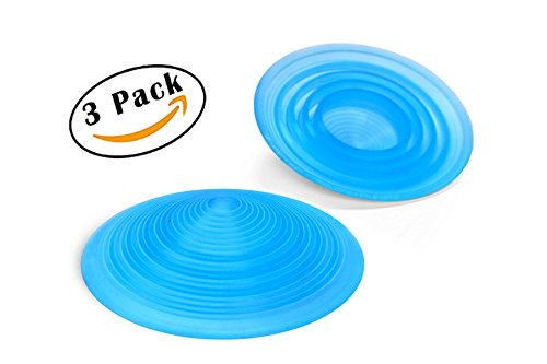 Door Stopper |Made in USA|- The Original Circular Door Stop''Always Grips Never Flips'' is Perfect for Office, Home, Patio Doors, Door Stops Works on All Floor Surfaces, (Pack of 3) (Translucent Blue) by Circular Doorstop