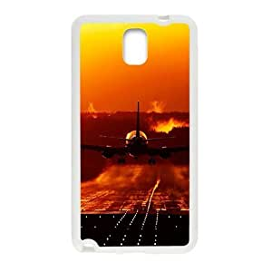 Sunset Rosy clouds plane scenery fashion phone For Case Iphone 4/4S Cover