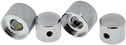 *NEW 2 CONCENTRIC CONTROL KNOBS for Guitar Bass Volume Tone Knurled Chrome