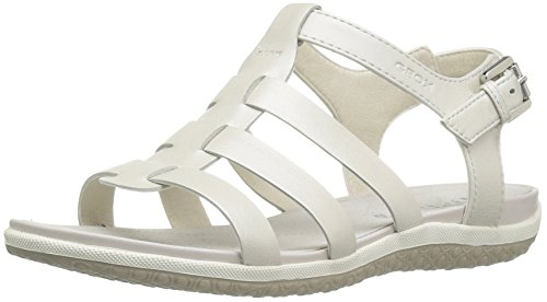Geox D72r6a 000bvc1000 - Sandalias de vestir de Piel Lisa para mujer Weiß