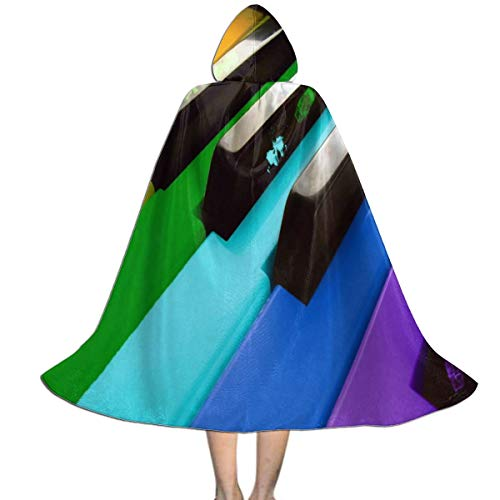REDCAR Hooded Cloak Cape Music Piano Customized Party Vampires Cosplay for Kids Girls Boys