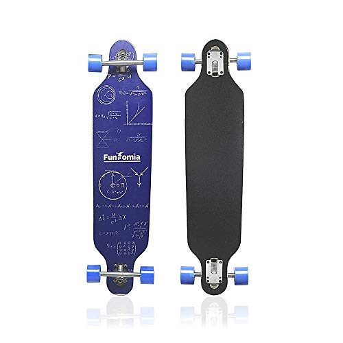 MammyGol Longboard Skateboard 42 Inch Maple Skateboard Drop Through Complete Cruiser,Blue Formula