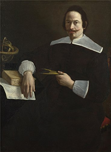 (Oil Painting 'Italian Emilian A Mathematician', 18 x 24 inch / 46 x 62 cm , on High Definition HD canvas prints is for Gifts And Gym, Home Theater And Laundry Room Decoration, decor)