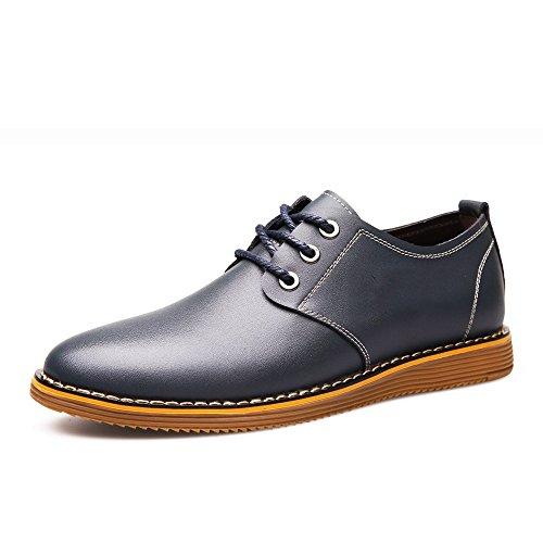WFL Sommer Leder Herrenschuhe Gezeiten Gürtel Rindfleisch Sehnen Unten Casual Schuhe Jugend Männer Schuhe Schuhe Schuhe Herrenschuhe Blau