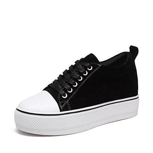 Zapatos ocasionales de las mujeres/Fondo plano zapatos/Zapatos de aumento de altura/Zapatos del deporte A