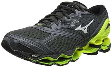 Mizuno Australia Men's Wave Prophecy 8 Running Shoes, Dark Shadow/Silver/Safety Yellow, 8 US