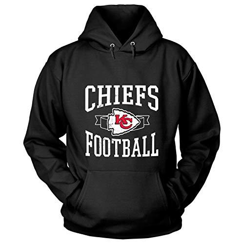 (PORTSHOP Kansas City Football T Shirt, Kansas City Chiefs Roster T Shirt - Hoodie (L, Black))