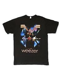 Weezer Blue Lights 2008 Tour Mens Black T Shirt