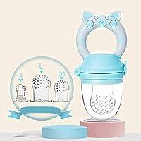 Azul//rosa, S MMBABY 2pcs Silicona Chupete de beb/é Mordedor Juguetes alimentos Frescos Frutas Toddler Nibbler Seguridad Alimentador Antiahogo y Tetina Extra de Silicona para Beb/é