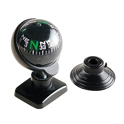 Hypersonic Full View Compass Ball Dashboard Dash Mount Navigation Black