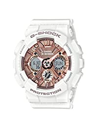 Casio Women 's' G Shock 'reloj Casual de cuarzo, Acero inoxidable y resina, color: blanco (modelo: gma-s120mf-7 a2cr)