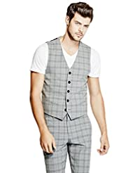 GUESS Eriksen Check Slim Suit Vest