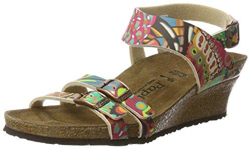 Papillio Ellen Birko-Flor, Women's Ankle Sandals Multicolored (African Wax Raspberry)