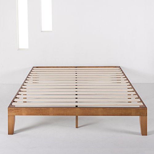 Mellow Platform Bed Frame w/Wooden Slats (No Box Spring Needed) Queen Natural
