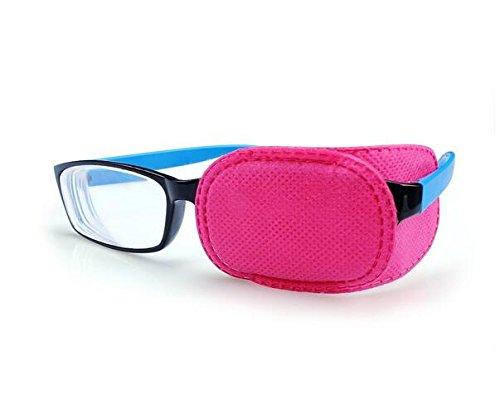 6 parches para ojos de ambliopía para tratar ambliopía Strabismus parche para ojos lacios Visual Acuity recuperación para niños sin irritación para la piel de los niños, rosa ericotry