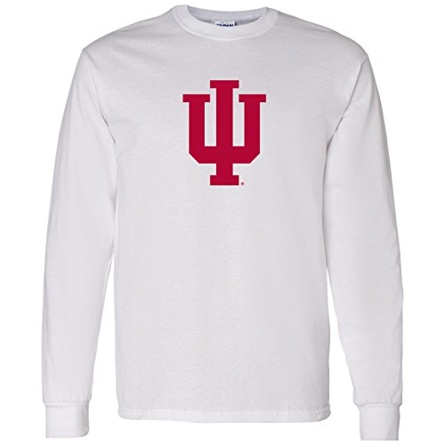 UGP Campus Apparel Indiana Hoosiers Primary Logo Long Sleeve - Large - White