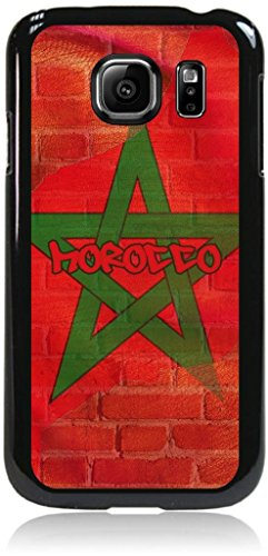 Morrocan Flag - Wall-Art/Street-Art- Case for the Samsung® Galaxy s6 Only (Not the s6 EDGE)- Hard Black Plastic Snap On Case