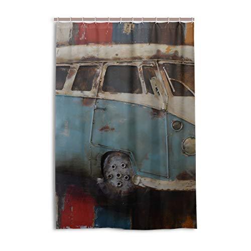 DNOVING Shower Curtain Car Art Painting Volkswagen Shower Stall Polyester Bathroom Bath Curtain Valance 48x72 Inch
