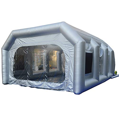 SAYOK Inflatable Spray Paint Booth with Filter System Portable Car & Door Paint Booth(23x16.4x9.84ft)