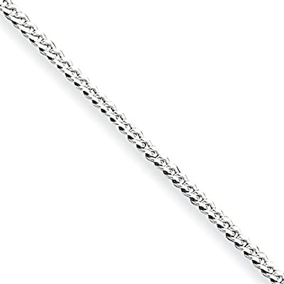 Black Bow Jewelry Sterling Silver 1.75mm Curb Chain Anklet, 10 Inch on sale