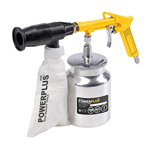 Druckluft Sandstrahlpistole incl. 2 KG Strahlsand Sandstrahler Sandstrahlgerät mit Rückgewinnung