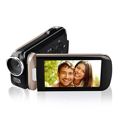 Video Camera Camcorder,Touch Monitor Mini Compact YouTube Vlogging Camera Recorder Full HD 1080P 30FPS 48MP 3.0 Inch 270 Degree Rotation Screen 18X Digital Zoom Camcorder