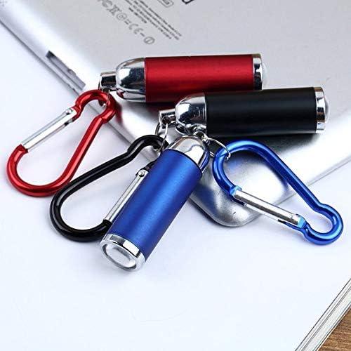 Mini Lampe de Poche ext/érieure Lampe Torche Trousseau l/éger t/élescopique Portable Alliage daluminium Haute Puissance Lampe de Poche