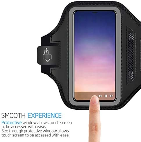 Professional Cover Neoprene Armband Sport Walking Running Fitness Cycling Gym for Samsung Galaxy A20 2019 - Green DFV mobile