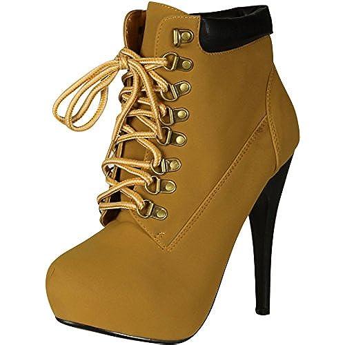 High Heel Work Boots Amazoncom