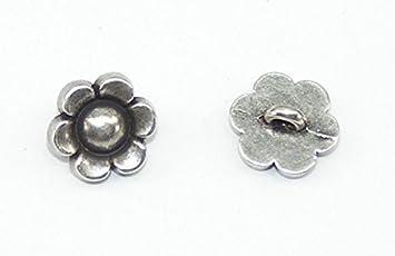 10 Metallknöpfe Knöpfe Trachtenknöpfe 10mm altsilber  05.50//665
