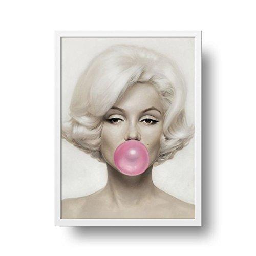 Poster Marilyn Monroe - Moldura Branca - 40 x 50 cm