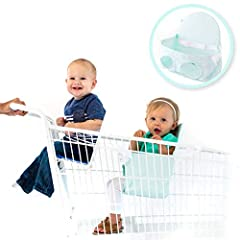 Buggy Bench Shopping Cart Seat is practical, hygienic, and a safer alternative to allowing a child to sit in the basket of a shopping cart. Once unfolded, Buggy Bench turns into a seat that keeps your baby safe and secure inside the basket of...