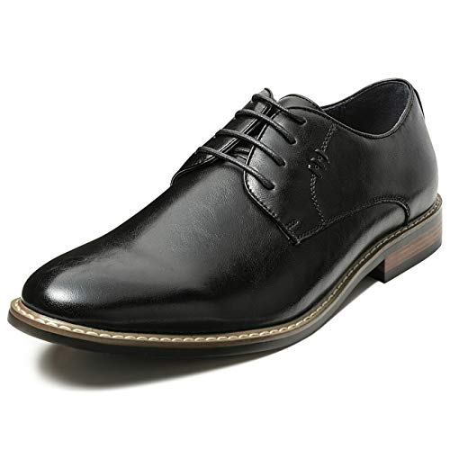 Mens Classic Dress Shoes Leather Lined Formal Oxfords (13 M US, Black10)