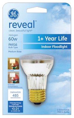 - G E Lighting #82142 GE 60W Halo Flood Light (Pack of 6)