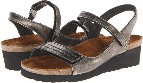 Naot Women's Madison Wedge Sandal, Metal, 40 EU/8.5-9 M US