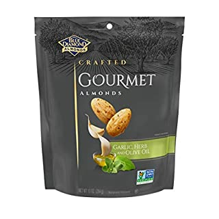 Blue Diamond Gourmet Almonds, Garlic, Herb and Olive Oil, 10 Ounce