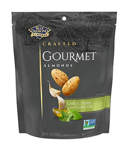 - Blue Diamond Gourmet Almonds, Garlic, Herb and Olive Oil, 10 Ounce