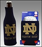 SET OF 2 NOTRE DAME IRISH CAN & BOTTLE KOOZIE COOLER For Sale