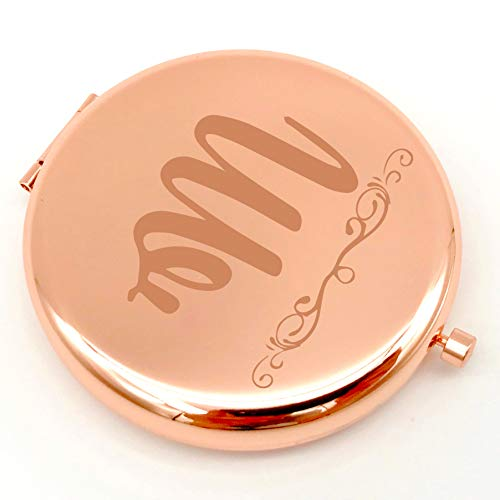 family Kitchen Letter M Name Personalized Travel Pocket Compact Pocket Makeup Mirror Gift for Best Friend and Sister Graduation Christmas Birthday Gifts