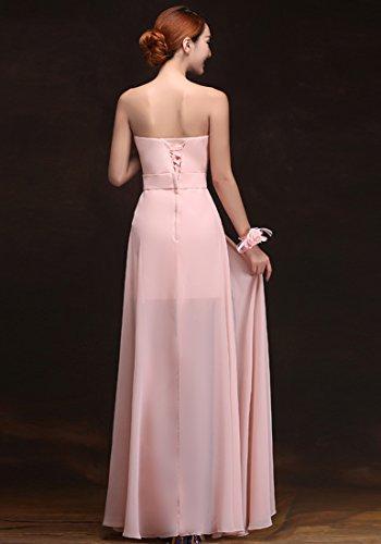 Kleider Stylee Stil Kleider Beauty Rosa Multile lange Chiffon Emily Abend Partei xFqRqIAw