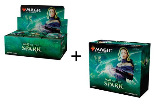 MTG Magic War of The Spark Booster Box & Bundle Combo by Magic: The Gathering (Image #1)