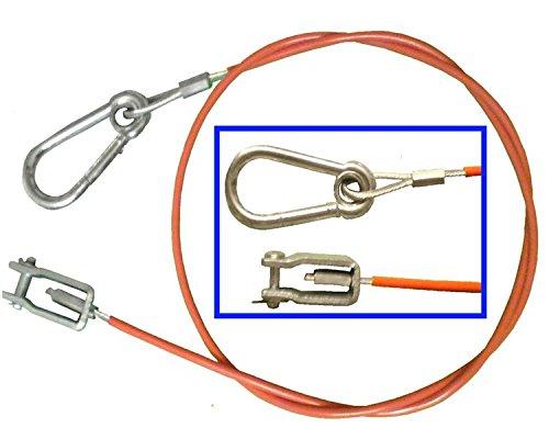 203202.003 Knott Nr. FKAnh/ängerteile Abrei/ßseil//Sicherungsseil Knott 1700 mm lang